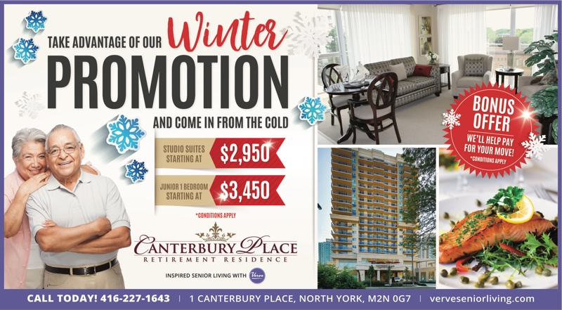 Canterbury Place: Winter Promotion Jan 2018 poster