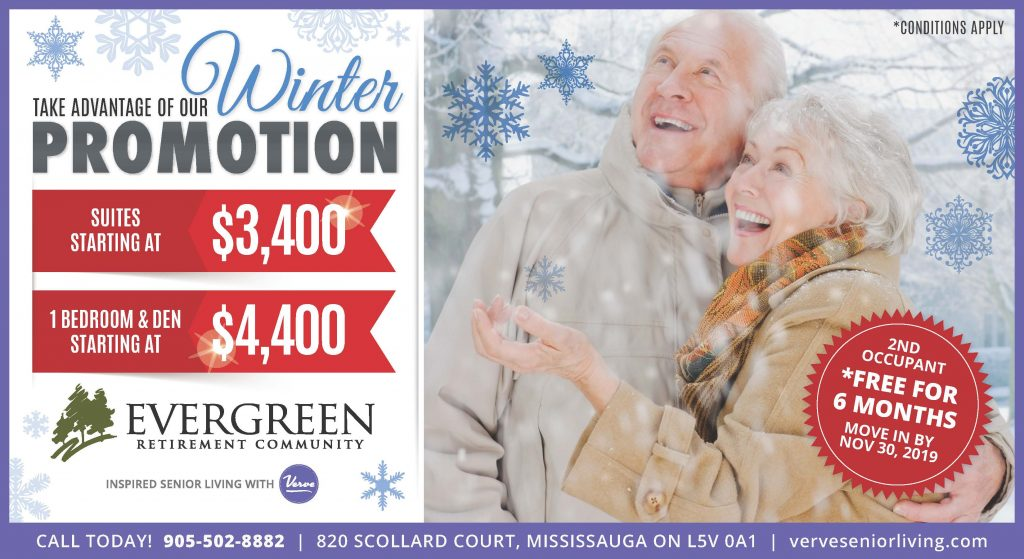 Evergreen Winter 2019 Promotion