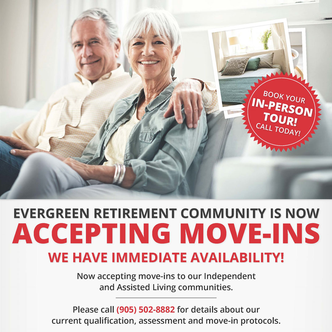 Evergreen Retirement Community is Now Accepting Move-ins!