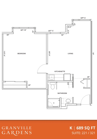 One Bedroom Suite Floorplan