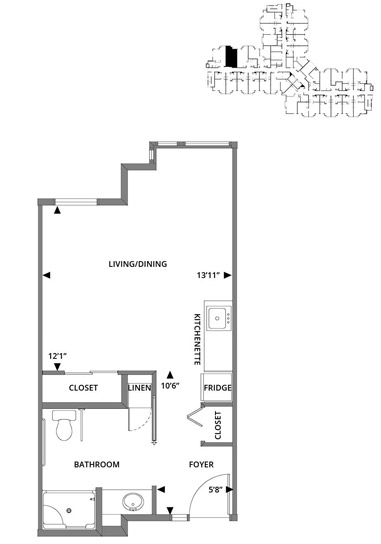 Cypress (Studio) Floorplan