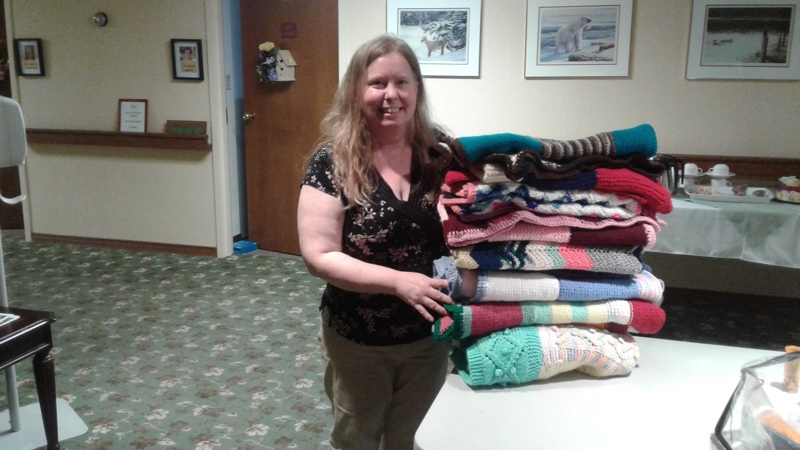 Hudson Manor Blanket Donation 2017