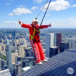 90-year-old thrill-seeker finds bliss atop the CN Tower
