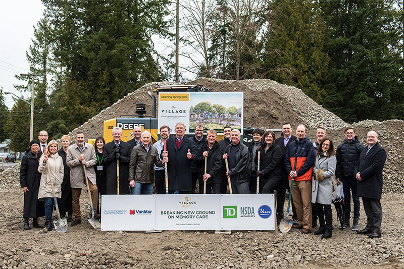 Groundbreaking at The Village, Canada's first 'dementia village' to open in Langley, BC