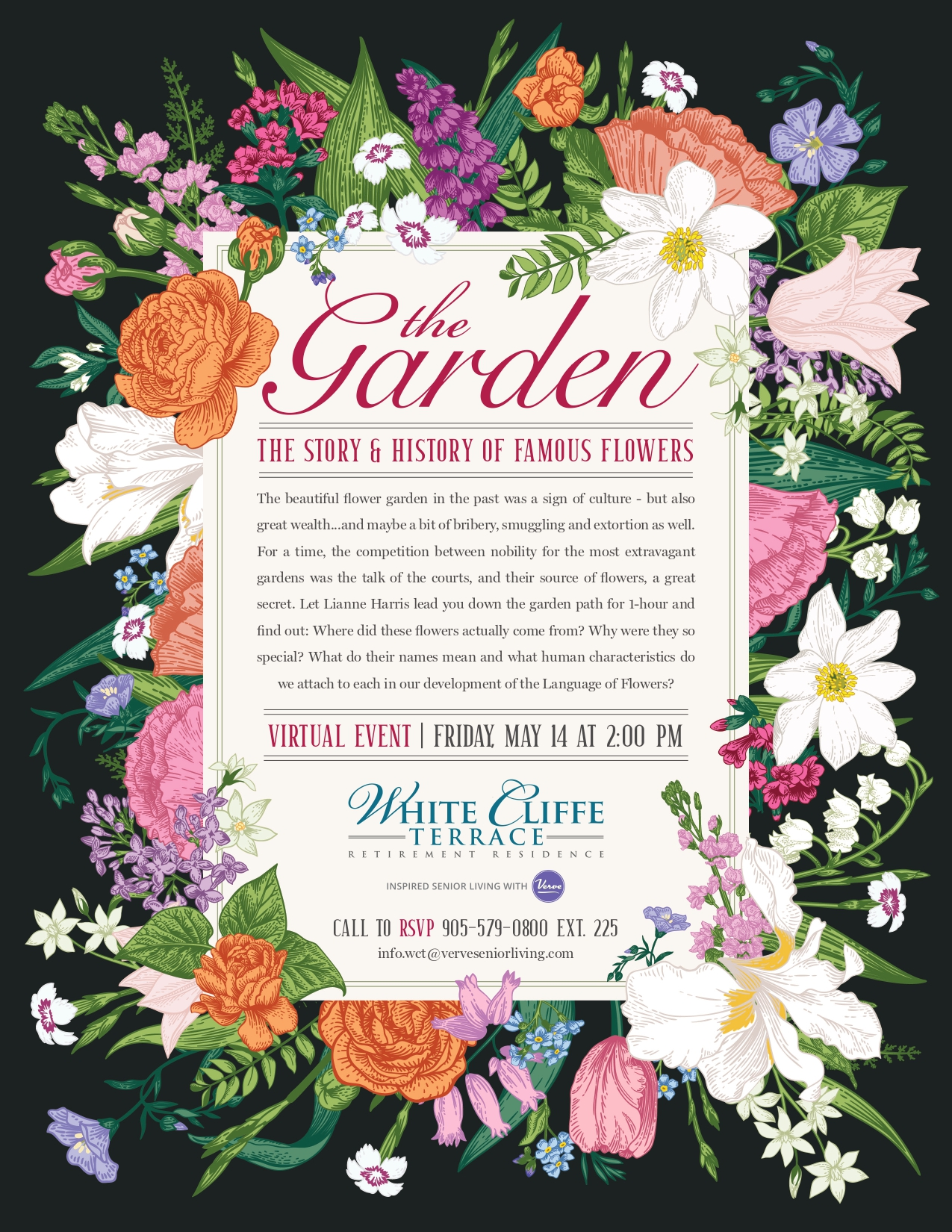Virtual Event   The Story and History of Famous Flowers