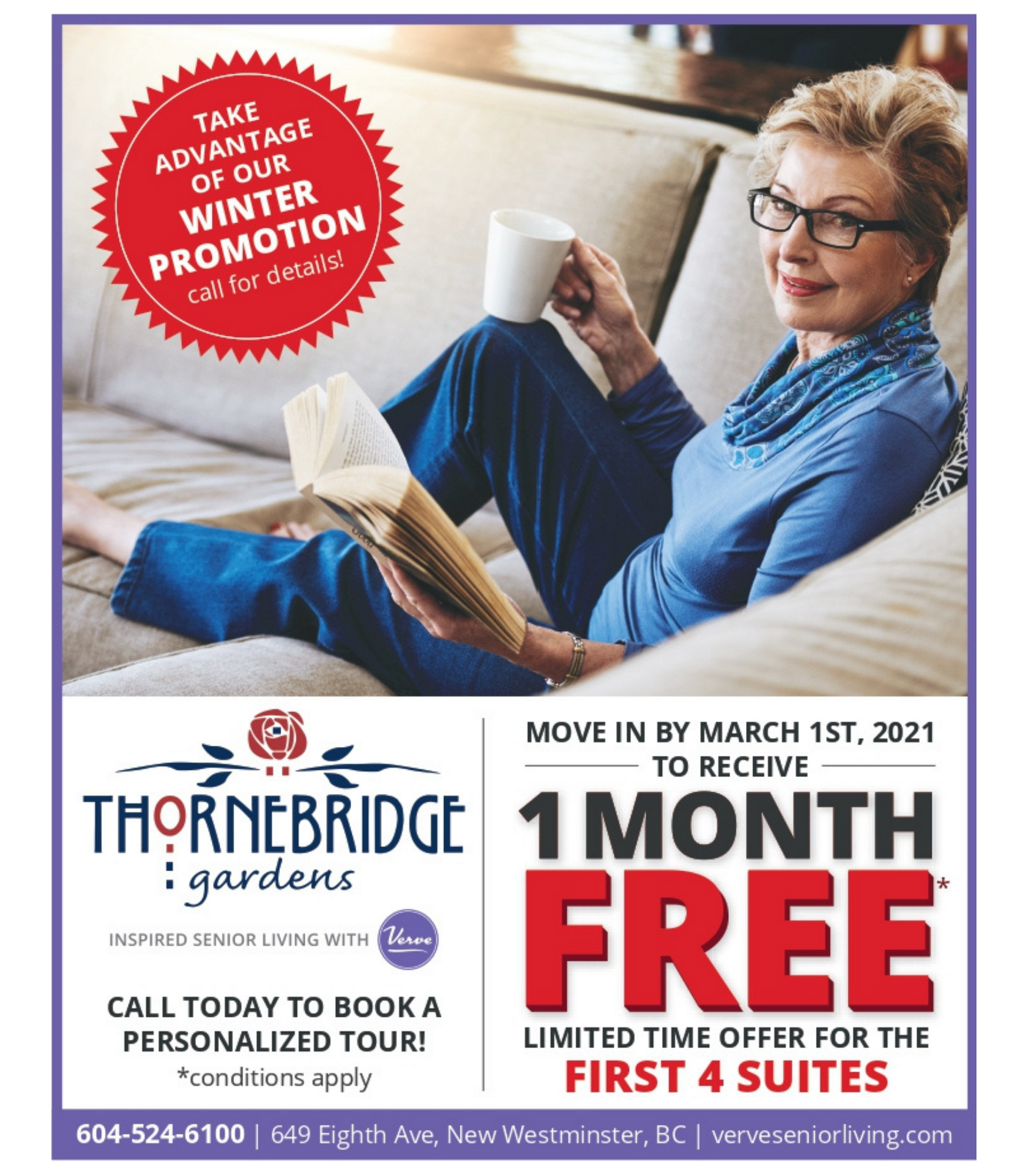 One Month Free at Thornebridge Gardens Retirement Residence | Limited Time Offer