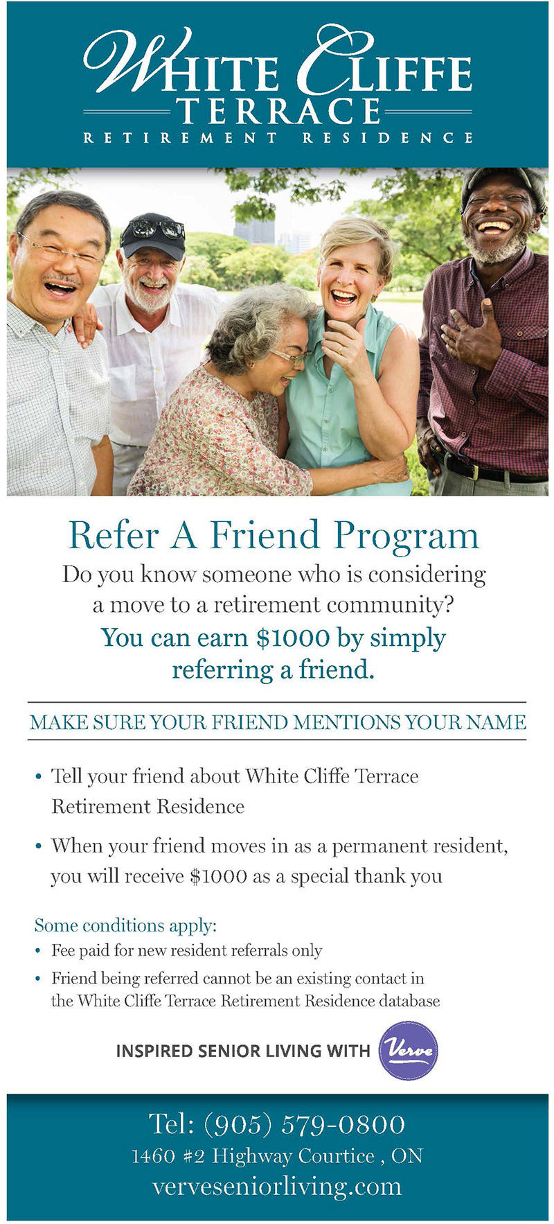 Refer a Friend Program at White Cliffe Terrace